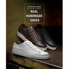 New PP2004 Handmade Preimium Line Lace Up Mens Leather Casual Fashion Sneakers