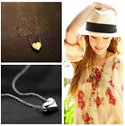New Women Fashion Love Gift Tiny Little Heart Love Gold Silver Pendant Necklace