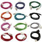 2M USB Sync Data Charger Adapter Cable Cord Braided Woven For iPhone 4 4S 5 Hot