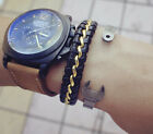 Punk sport fashion Handmade genuine leather chain Bracelet charm Jewelry NEW