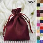 60 pcs 3x3.5 inch SATIN Drawstring FAVOR BAGS - Wedding Gift Pouches Packaging
