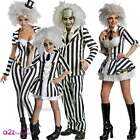 Beetlejuice 1980s Halloween Fancy Dress Horror Film Mens Ladies Adults Costume