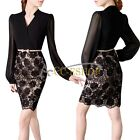 Elegant Women Lace Floral Evening Sexy Bandage Bodycon Party Cocktail Mini Dress