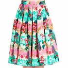 Hell Bunny Peacock 50s Circle Skirt Rockabilly Retro Vintage Swing