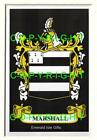 MARSHALL Family Coat of Arms Crest - Choice of Mount or Framed