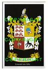 MCGRATH Family Coat of Arms Crest - Choice of Mount or Framed
