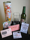 Queen Bohemian Rhapsody Lager : Pint Glass + Empty Bottle + Beer Mat + Tickets