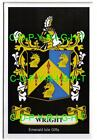 WRIGHT Family Coat of Arms Crest - Choice of Mount or Framed