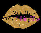 Large Glitter Lips - Custom Color - Iron on Vinyl/Rhinestone Transfer Bling -DIY