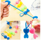 7 x Heart Shaped Food Bag Sealing Tie Organizer Bundled Cable Cord Tidy Up Fun