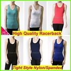 Women Top Racerback Singlet Gym Exercise Sport Wear Tight Nylon/Spandex 14 16 18