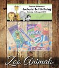 PERSONALISED BIRTHDAY LOLLY/LOOT BAG & TOPPER - ZOO ANIMALS