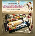 PERSONALISED BIRTHDAY LOLLY/LOOT BAG & TOPPER - WESTERN/COWGIRL