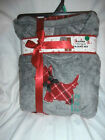 Ladies Woman Pajamas Set - Plush Top & Pant - You Choose - Scottie Dog Plaid NIP