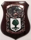 KELLEY to KIELY Family Name Crest on HANDPAINTED PLAQUE - Coat of Arms