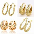"""9ct 9K """" Gold Filled """"  Prom Girl Small Hoop 14 - 23mm Valentine Earring A609"""