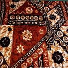Hawaiian Print Cotton Fabric, Traditional Tapa, Lava Cloth, Black Brown & Ivory