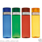REUSABLE 800ML SCEW TOP COLOURED BOTTLE PLASTIC SPORT CUP TRAVEL WATER BOTTLE