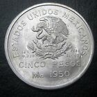 Mexico 1950 Five Silver Pesos Choice Bu G6171