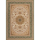 Ivory Green Bordered Area Rug Traditional Persian Oriental Carpet Rugs Area Rugs