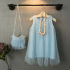 Pegeant Baby Girl Princess Party Dress Tulle Gown Dresses+Bag Sundress Clothes