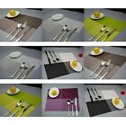 Table Mats Pad Set of 4 Placemat Vintage PVC Insulation Plaid Dining Coaster