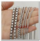 1/2/3/5mm Wholesale Jewelry Stainless Steel Silver Box Rolo Chain In Bulk 5M/10M