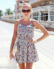 H&M Loves Coachella White Floral Sun Dress New Short Sleeveless UK 8 EU 34 US 4