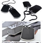 army dog tags for men - Fantastic  2 Dog Tags Chain Army Tactical Style Black Men Pendant Necklace