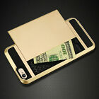 Shockproof New Card Pocket Hybrid Wallet Case Cover For iPhone 5 5S 6 6S Plus