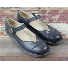 Leather Mary Janes Shoes Women Buckle Strap Flats ballet Martin Shoes heels