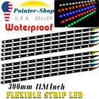 White Red Yellow 30cm Waterproof 5050 12led Flexible Car Decoration Strip Light