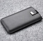 Xiaomi Cover Case Sleeve Black Real Leather Pouch With Magnetic Flap