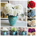 Artificial Hydrangea Silk Bouquet 5 Flower Heads Wedding Garden Bridal Decor Hot