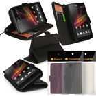 FONEM8 - LEATHER WALLET CASE FOR SONY XPERIA Z FLIP COVER