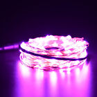 Xmas 1 2 3 5 10M LED Silver Copper Cable Wire Fairy Light String Lamp Colors OM