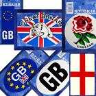 Choice of 7 GB British English UJ Sticker Labels - Rose, Bulldog, Union Jack