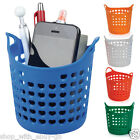 Round Wash Basket Style Pen Pot Stationery Holder Desk Organiser