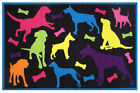 Fun Rugs Fun Time Bow Wow Black Area Rug