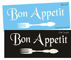 French Kitchen STENCIL Bon Appetit Fork Eat Country Cottage Chic Decor Art Signs