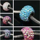 1x Womens Czech Crystal 5mm Big Hole European Beads Fit Charm Snake Bracelet DIY