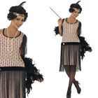 Coco Flapper – 20s 1920's Flapper Dress Fancy Dress Costume Decade Brown Coco