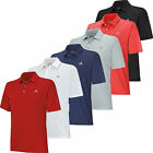 Adidas Climacool 3 Stripes Debossed Polo Golf Shirt Closeout Mens New