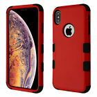 Red Hybrid Tuff Durable PC Hard Phone Case Protector Shock Absorb Shell Cover
