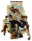 'Home From Vacation' by Norman Rockwell Painting Print on Wrapped Canvas