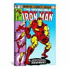 Marvel Comics Book Iron Man Issue Cover #126 Graphic Art on Wrapped Canvas