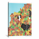 iCanvas Dog and Cat Autumn by Stephen Huneck Graphic Art on Wrapped Canvas