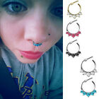New Women Crystal Septum Clicker Hanger Nose Ring Non Piercing Body Jewelry Hot