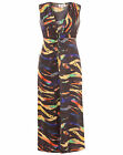 THREADS Plus Size MULTI Print TWIST Detail MAXI Dress Sizes 18 22 24 PARTY