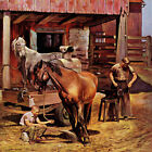 Marmont Hill Blacksmith by John Falter Painting Print on Wrapped Canvas
